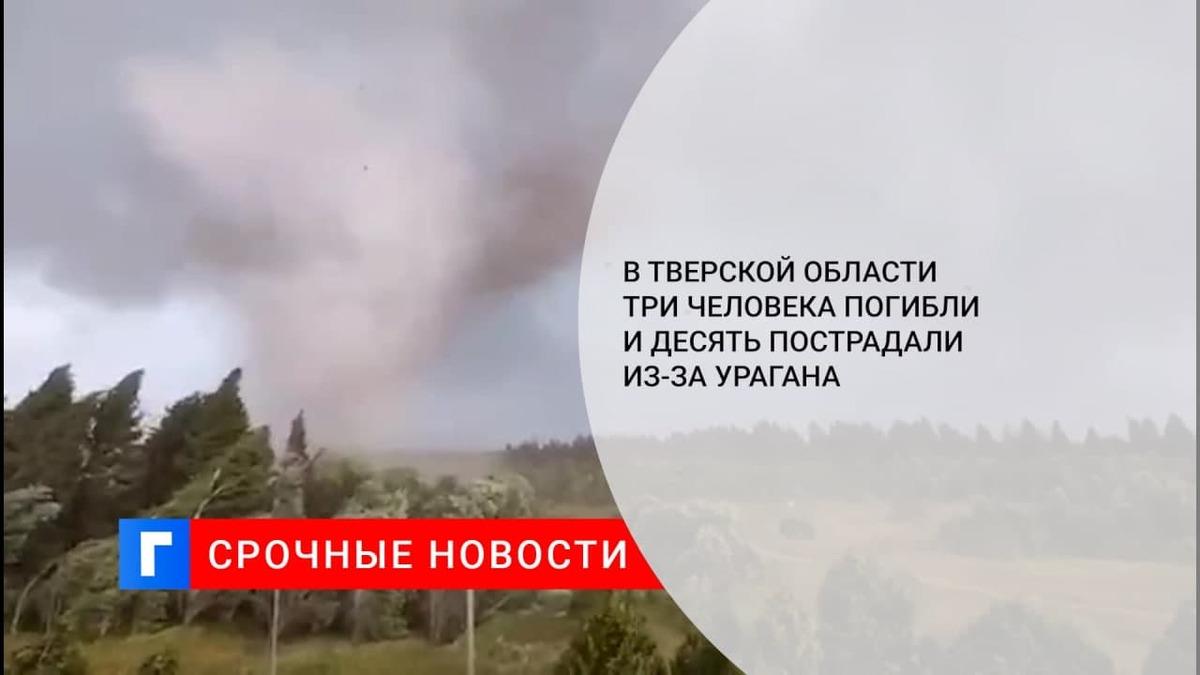 В Тверской области три человека погибли и десять пострадали из-за урагана
