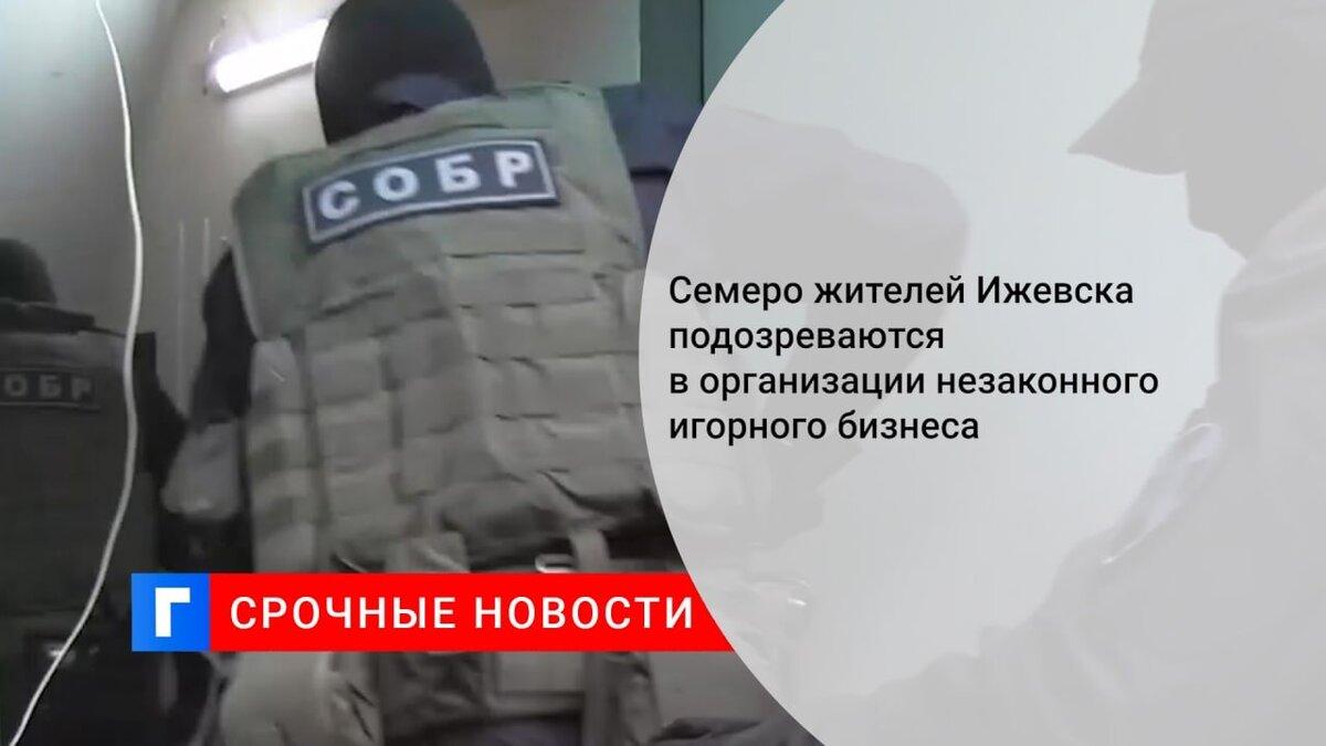 Семеро жителей Ижевска подозреваются в организации незаконного игорного бизнеса