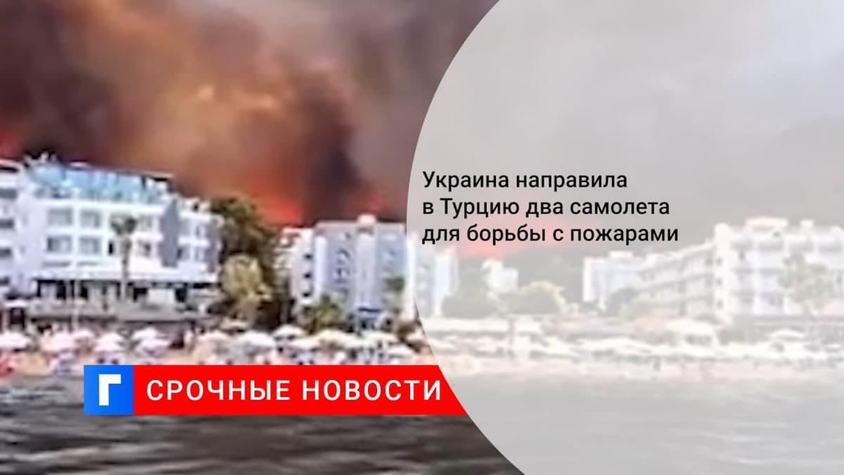 Президент Зеленский: Украина предоставит Турции пожарный самолет для борьбы с лесными пожарами