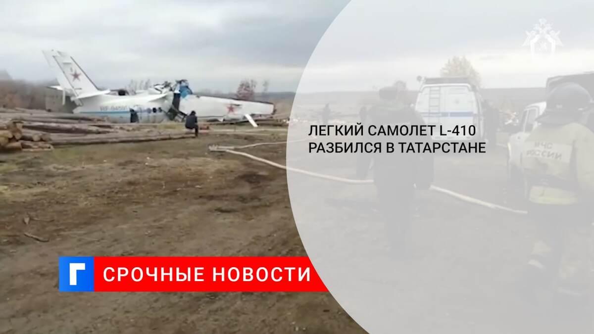 Легкий самолет L-410 разбился в Татарстане