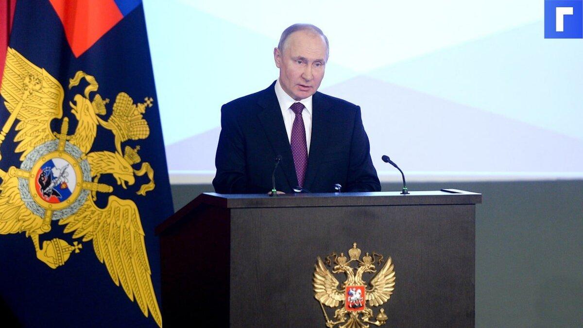 Путин призвал усилить борьбу с теми, кто привлекает детей для участия в митингах