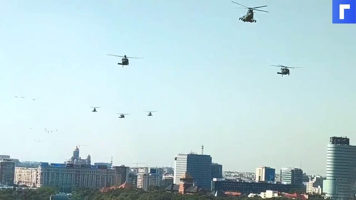 В центре Бухареста экстренно сел американский военный вертолет