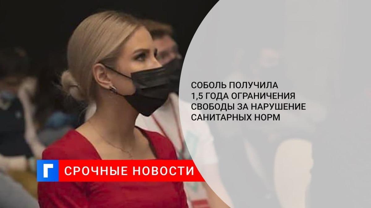 Суд приговорил Соболь к 1,5 года ограничения свободы по делу о нарушении санитарных правил