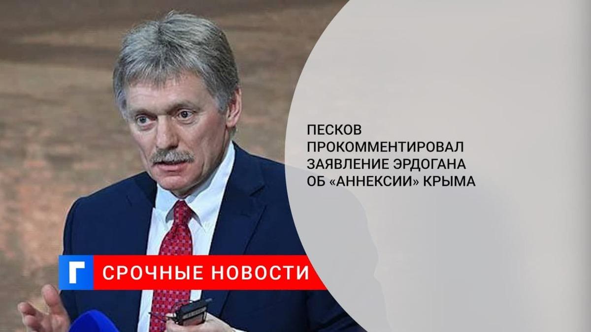 Песков: в Кремле сожалеют о заявлении президента Турции Эрдогана об «аннексии» Крыма