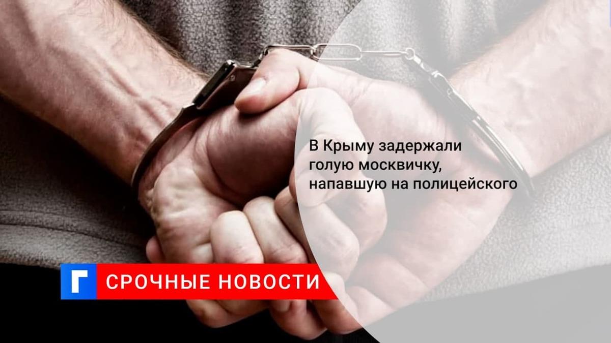 В Крыму задержали пьяного водителя и его голую спутницу, напавшую на сотрудников ДПС