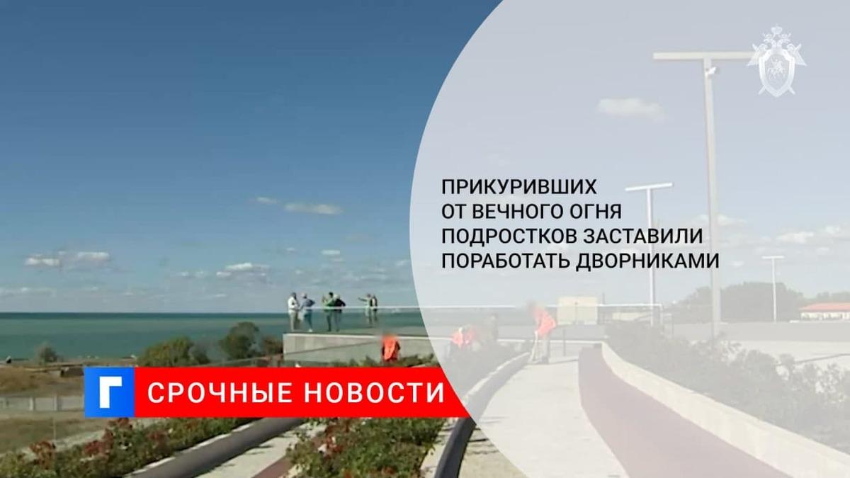 В СК попросили лишь оштрафовать подростков, прикуривших от Вечного огня в Крыму