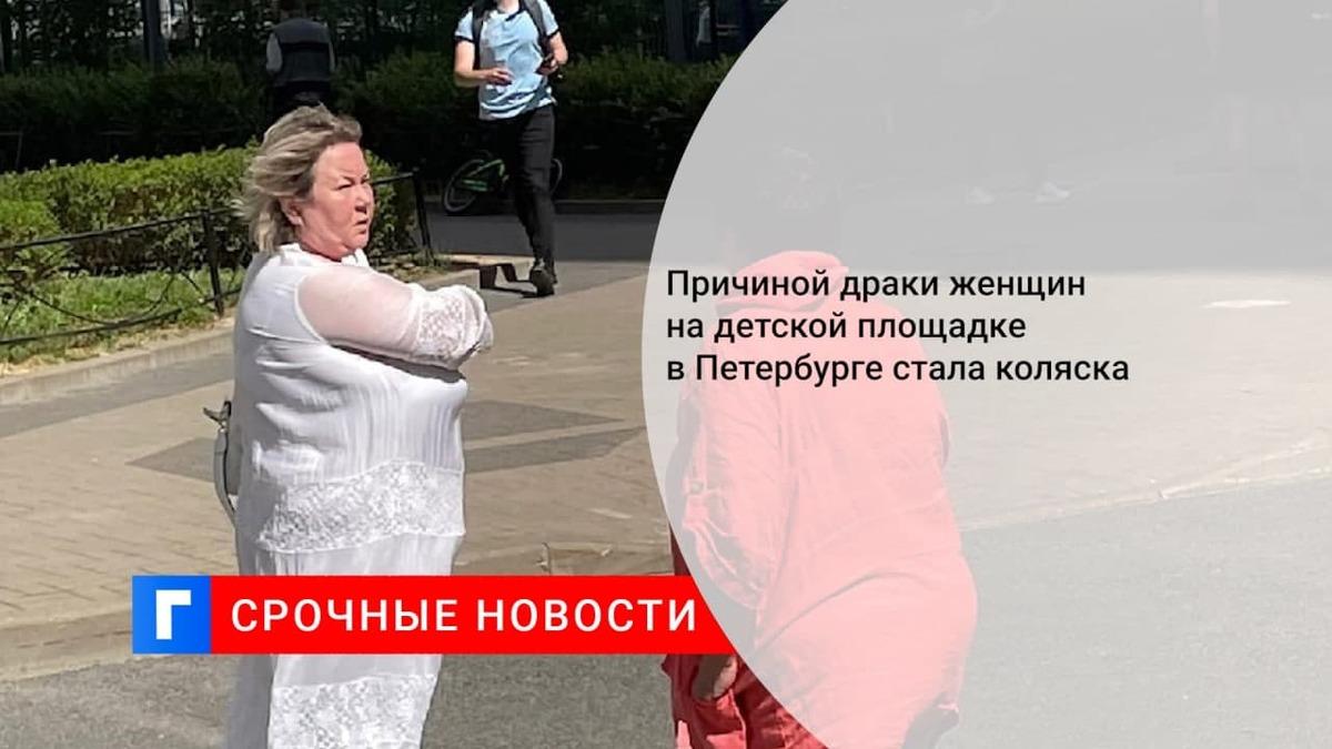 Причиной драки женщин на детской площадке в Петербурге стала коляска