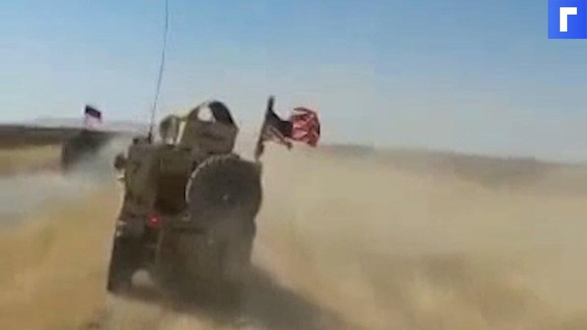Военные ВС США попытались протаранить российский бронетранспортер БТР-82 в Сирии
