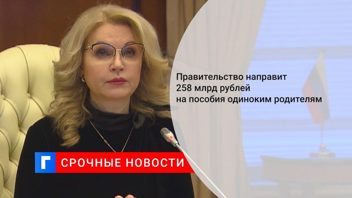 Правительство направит 258 млрд рублей на пособия одиноким родителям