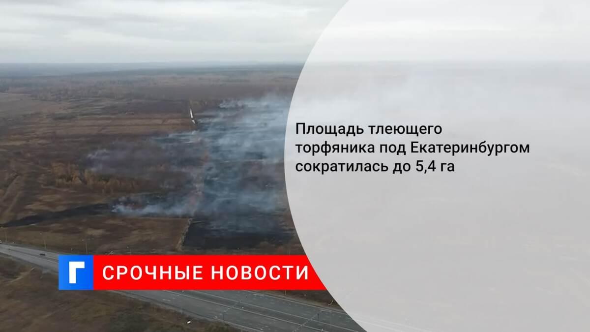 Площадь тлеющего торфяника под Екатеринбургом сократилась до 5,4 га