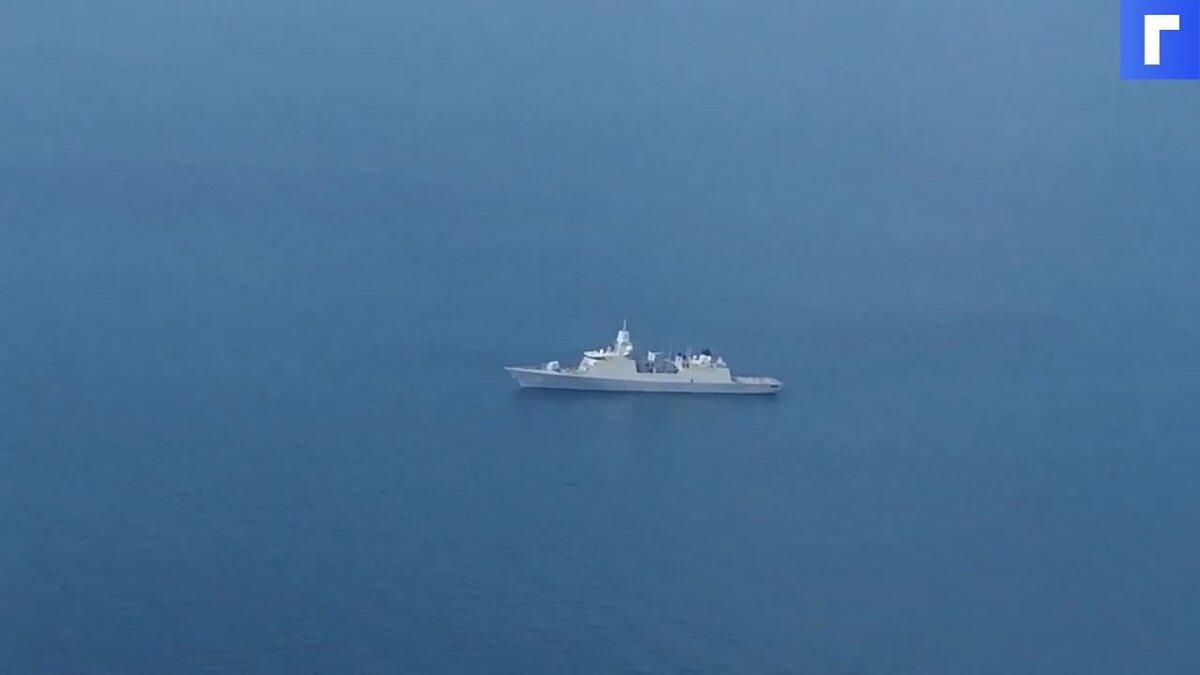 Минобороны России опубликовало видео с фрегатом ВМС Нидерландов в Черном море