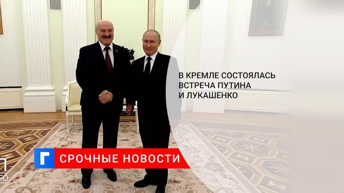 В Кремле состоялась встреча Путина и Лукашенко