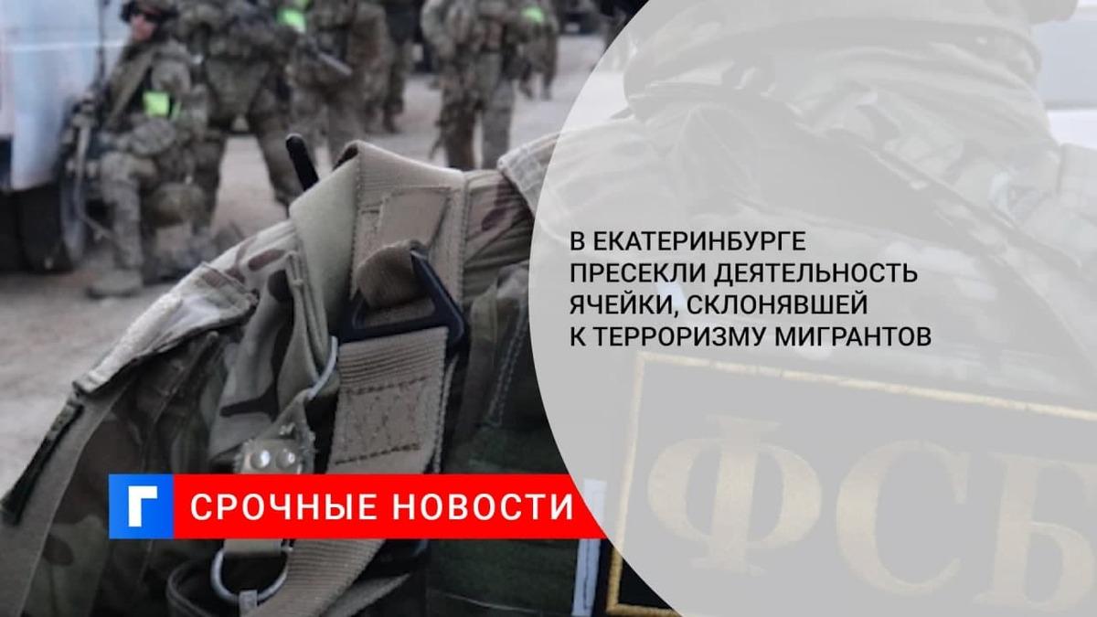 В Екатеринбурге задержали уроженцев Центральной Азии, склонявших мигрантов к терроризму