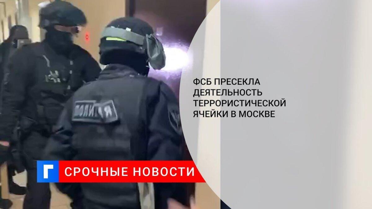ФСБ пресекла деятельность террористической ячейки в Москве