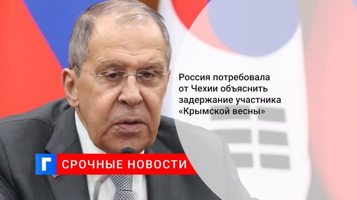 Захарова: Москва запросила у Праги данные о задержании в Чехии россиянина
