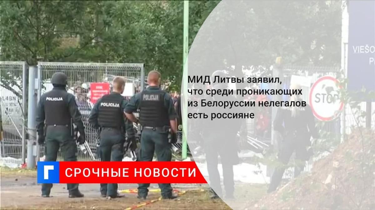 МИД Литвы заявил, что среди проникающих из Белоруссии нелегалов есть россияне