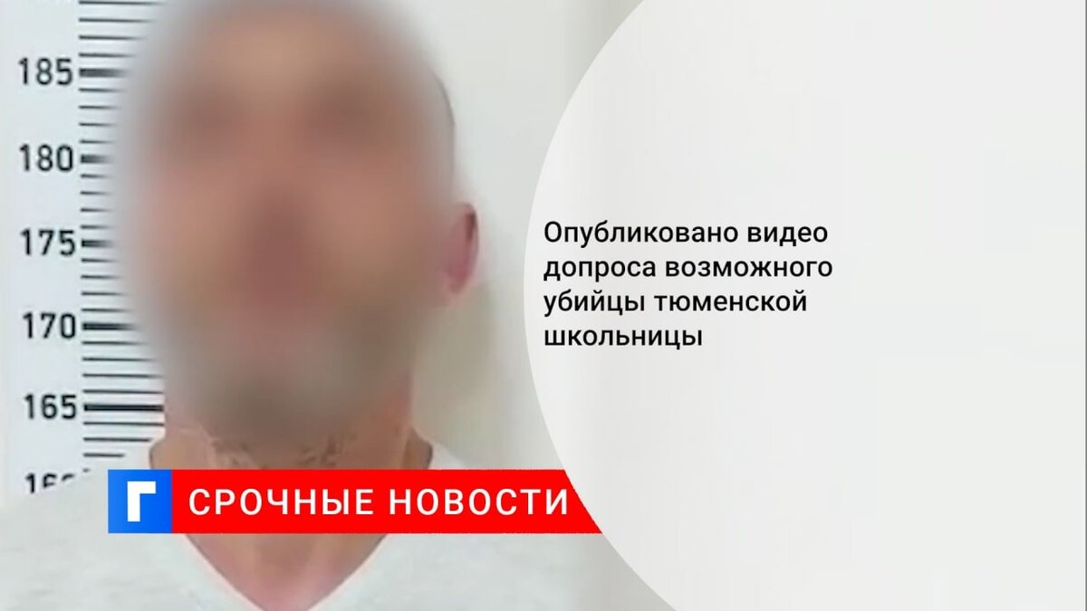 Опубликовано видео допроса возможного убийцы тюменской школьницы