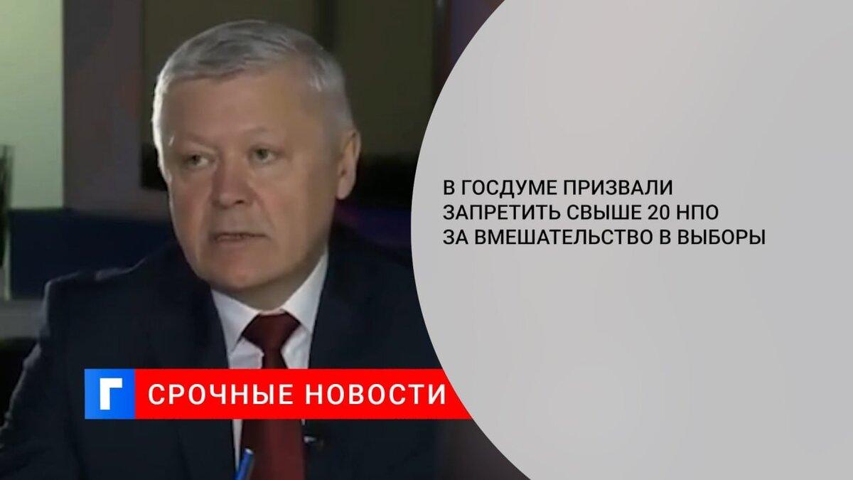 В Госдуме призвали запретить свыше 20 НПО за вмешательство в выборы