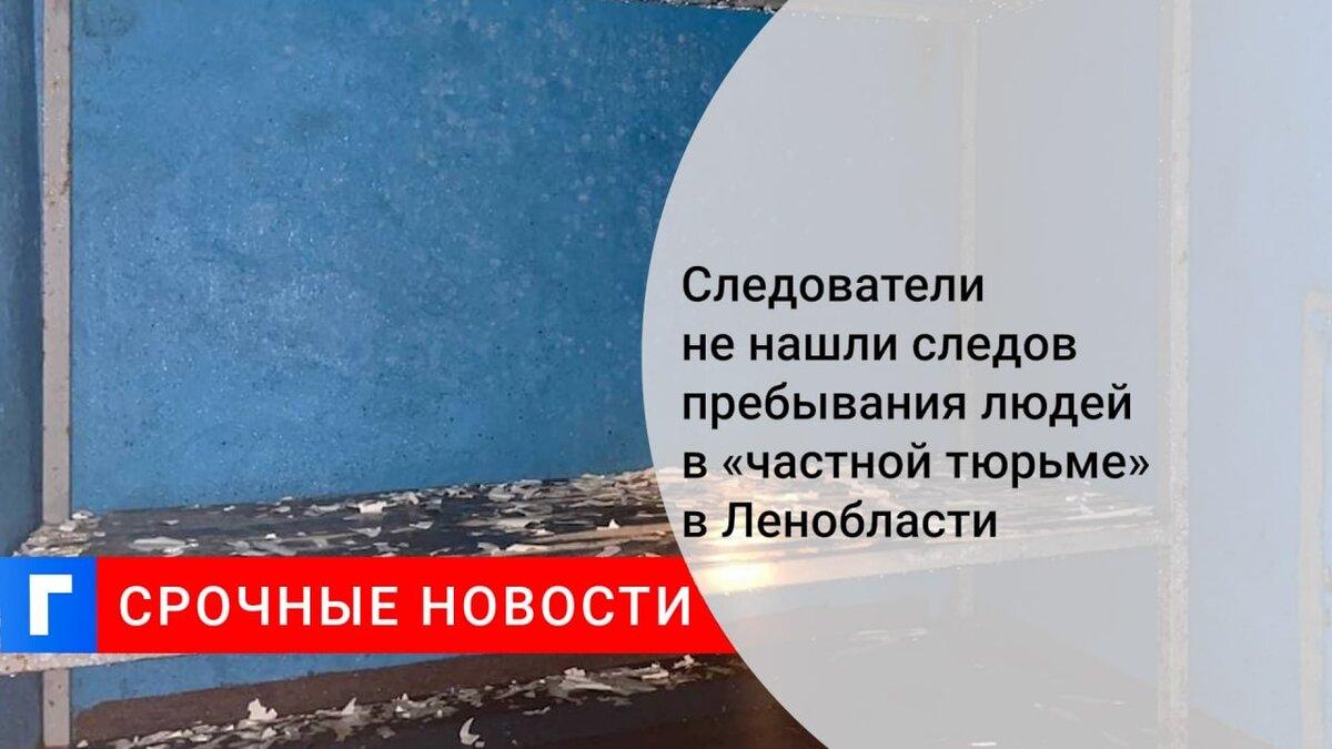 """СК не нашел следов пребывания людей в подземном """"СИЗО"""" в Ленобласти"""