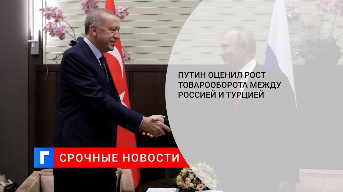 Путин оценил рост товарооборота между Россией и Турцией