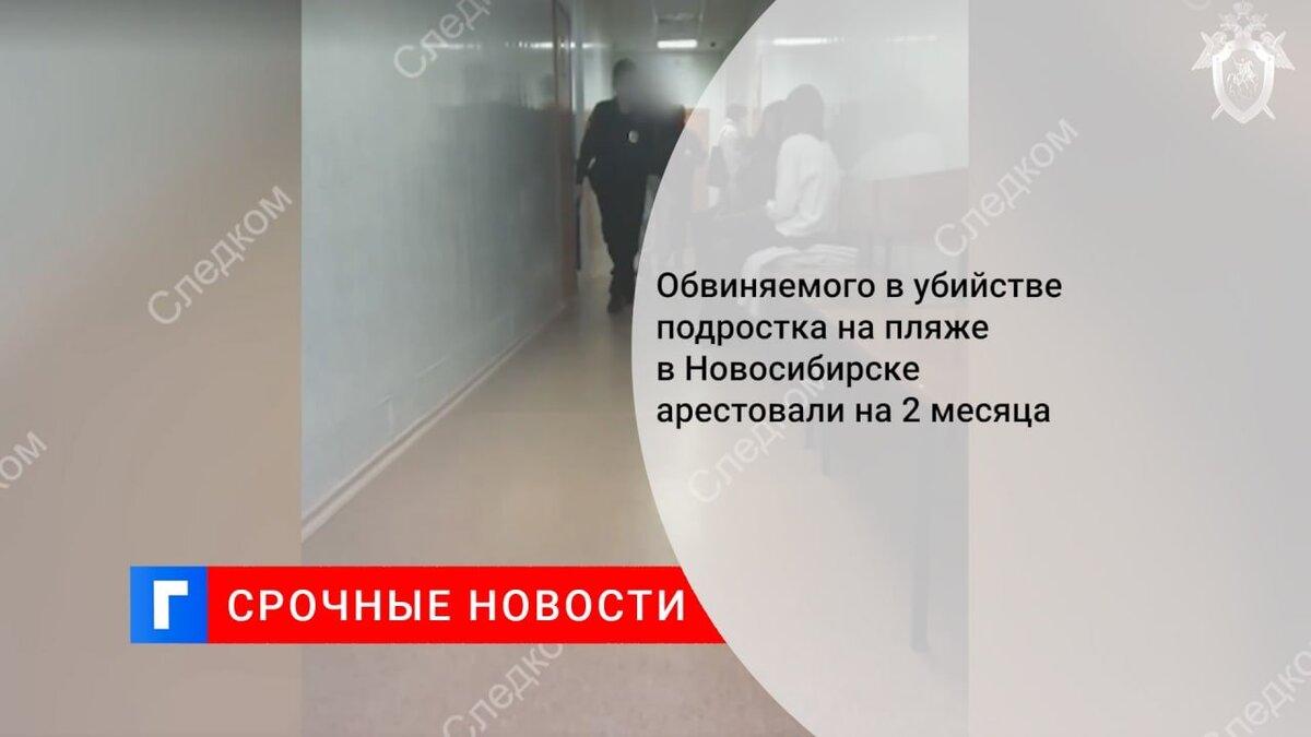 Обвиняемого в убийстве подростка на пляже в Новосибирске арестовали на 2 месяца