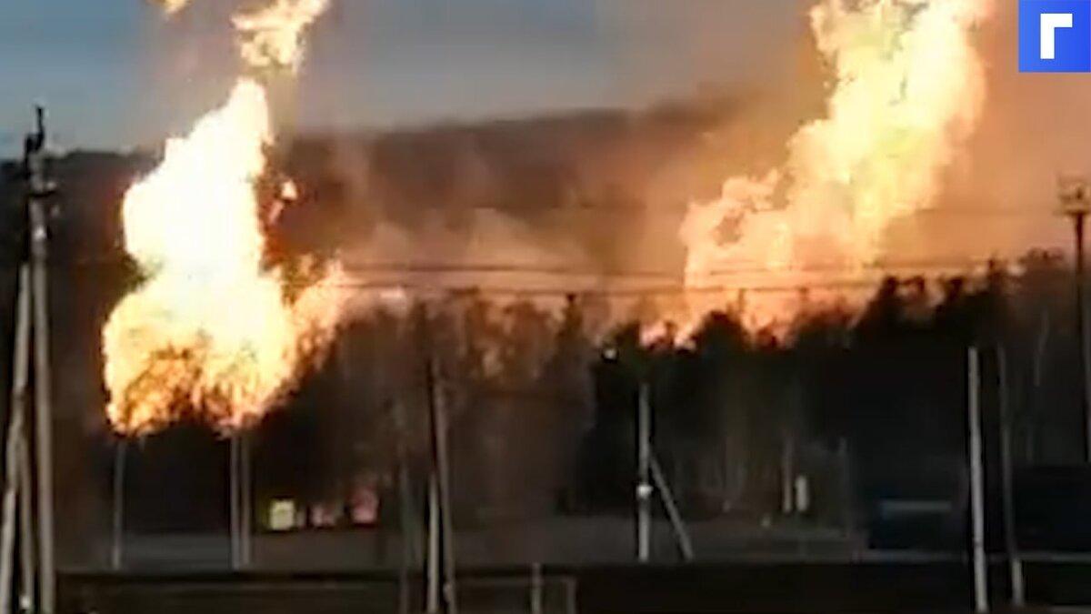 Газопровод в селе Семеново в Башкирии вспыхнул после разгерметизации