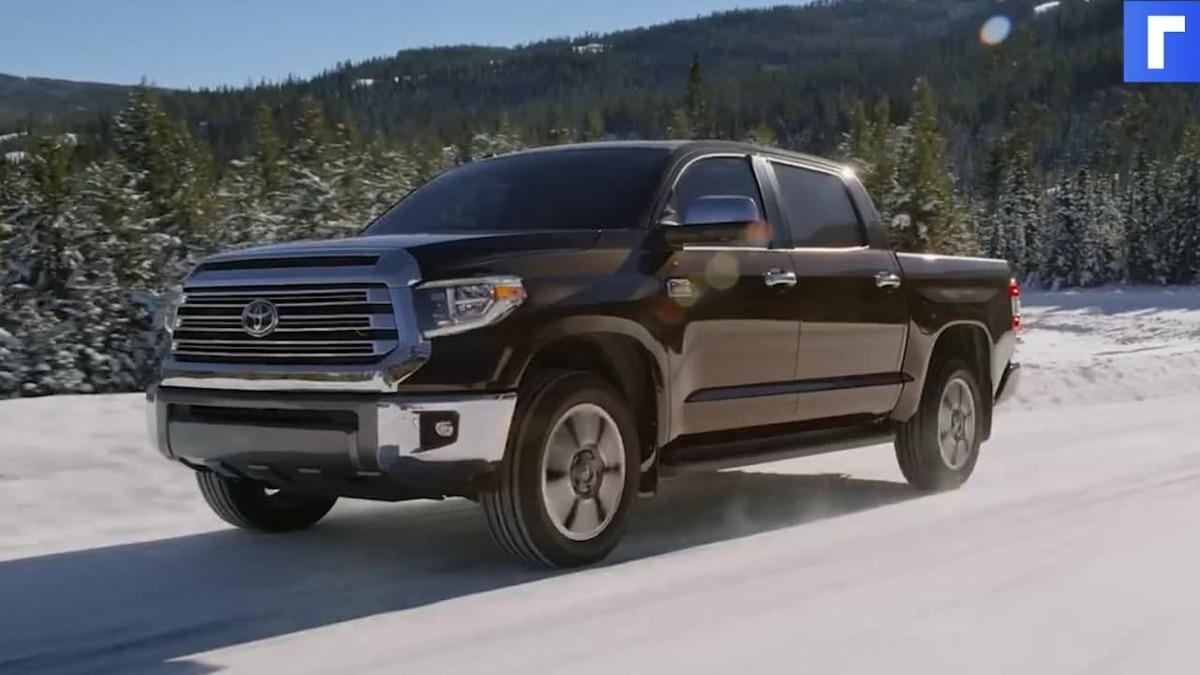Toyota готовит новый «рамник» с технологиями RAV4 и Highlander. На фото показали Tundra 2022