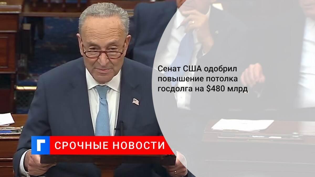 Сенат США одобрил повышение потолка госдолга на $480 млрд
