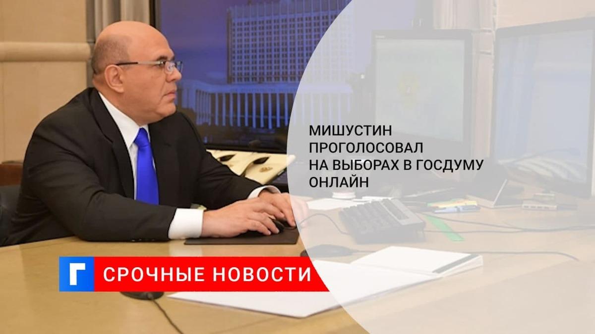 Премьер-министр Мишустин проголосовал на выборах депутатов Госдумы в онлайн-режиме