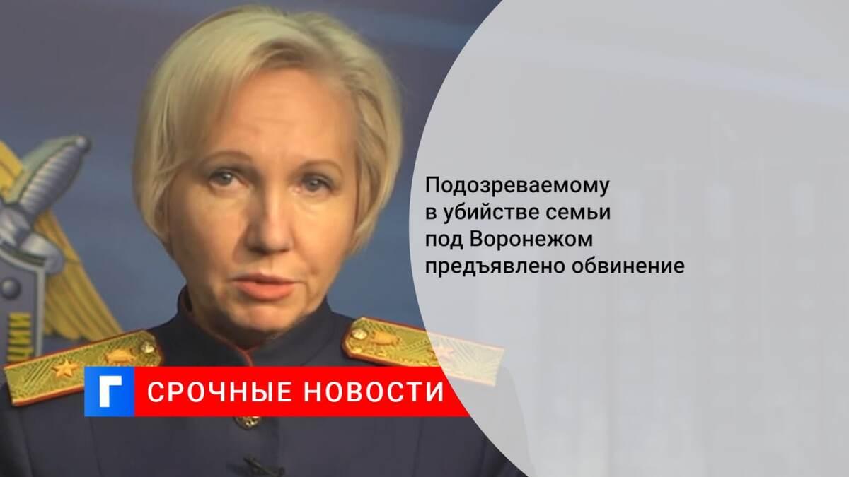 Подозреваемому в убийстве семьи под Воронежом предъявлено обвинение