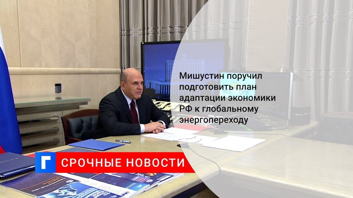 Мишустин поручил подготовить план адаптации экономики РФ к глобальному энергопереходу
