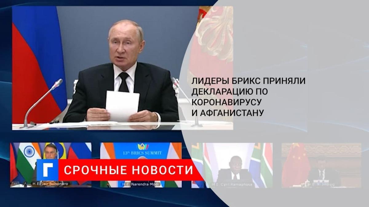 Страны БРИКС приняли итоговую декларацию тринадцатого саммита организации