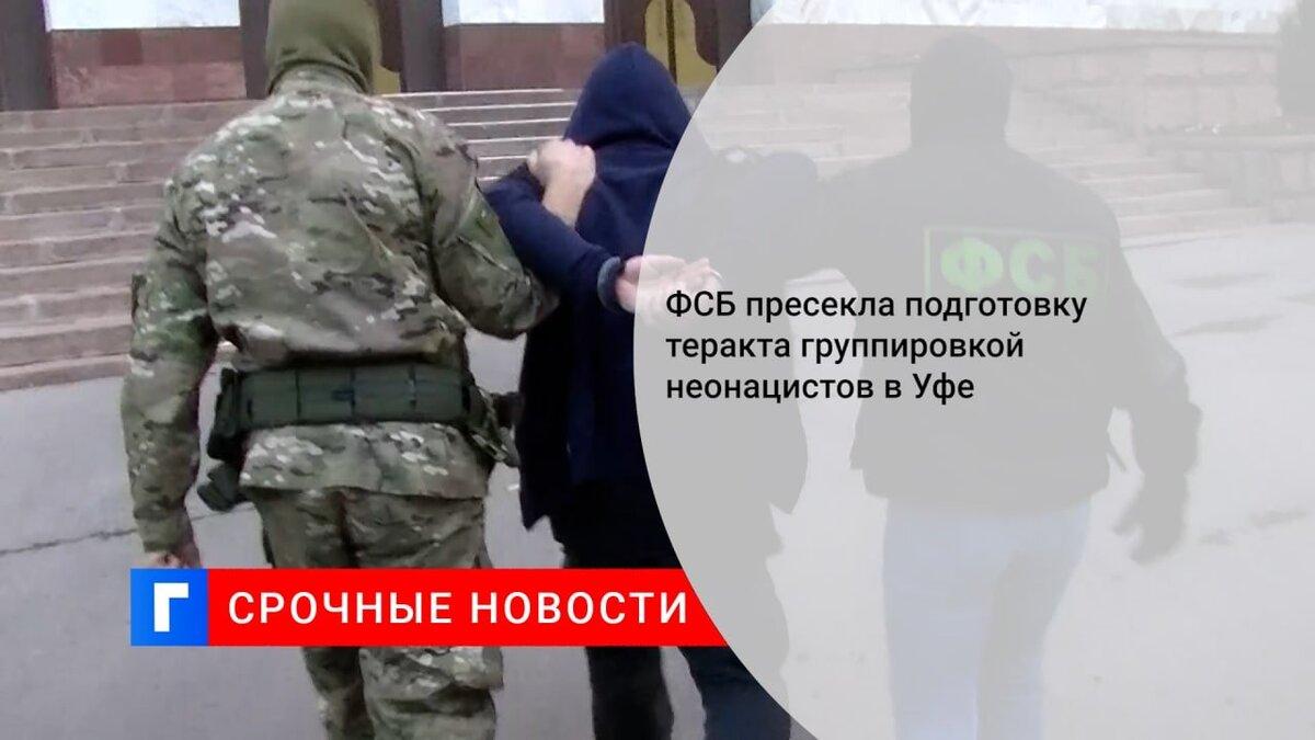 ФСБ пресекла подготовку теракта группировкой неонацистов в Уфе