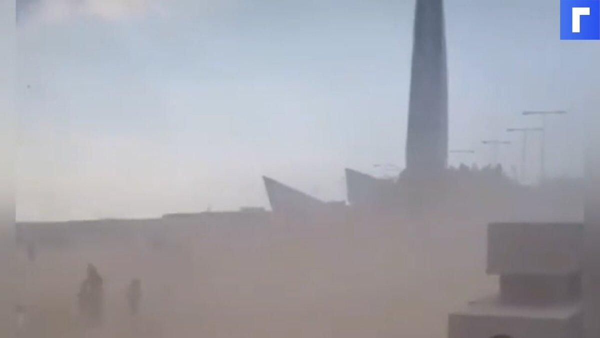 Петербуржцы засняли песчаную бурю в парке 300-летия