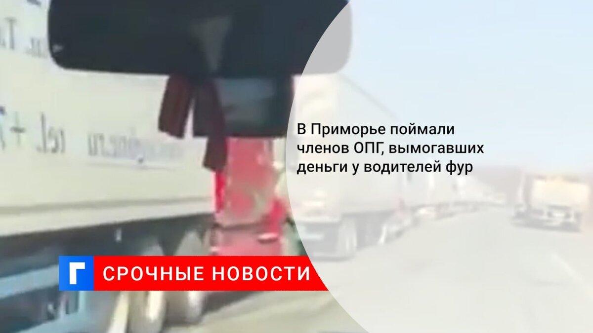В Приморье поймали членов ОПГ, вымогавших деньги у водителей фур
