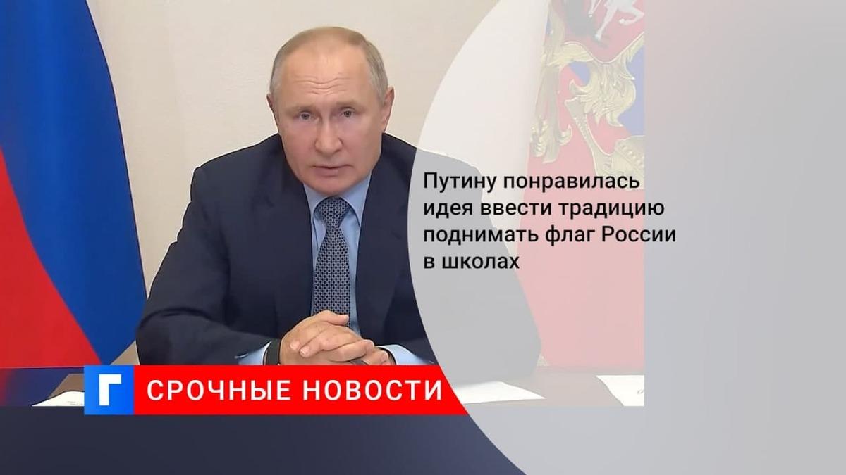 Президент Путин поддержал предложение ввести церемонию подъема государственного флага в школах