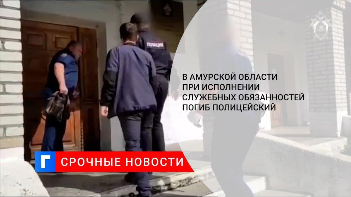 В Амурской области при исполнении служебных обязанностей погиб полицейский
