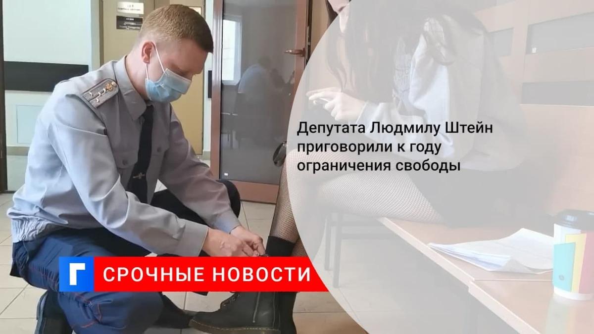 Суд в Москве приговорил к году ограничения свободы муниципального депутата Людмилу Штейн