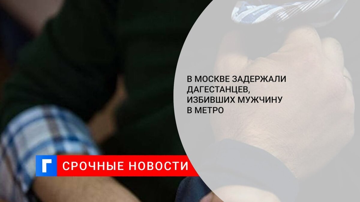 В Москве задержали дагестанцев, избивших мужчину в метро