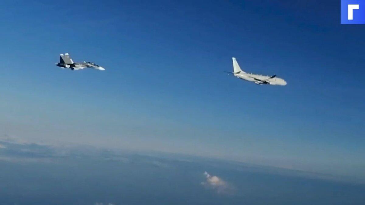 Российские Су-30 сопроводили американский самолет над Черным морем