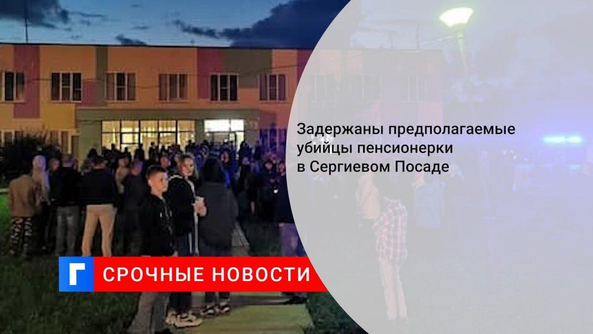 Задержаны предполагаемые убийцы пенсионерки в Сергиевом Посаде