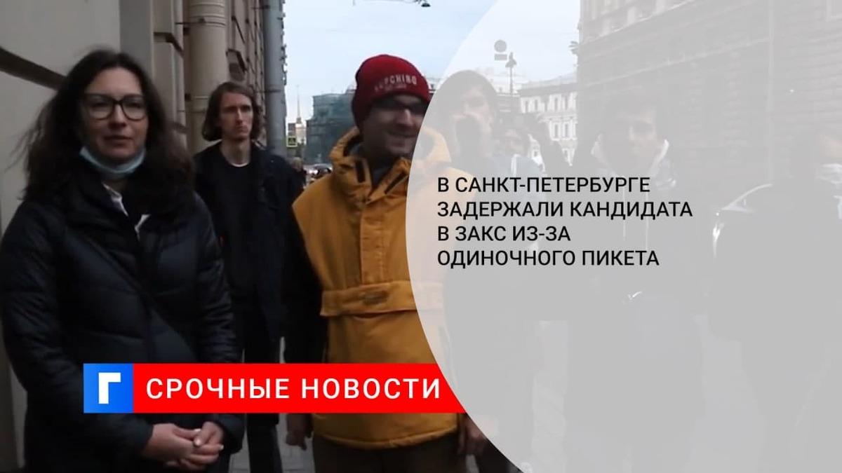 Кандидата в ЗакС задержали у здания Горизбиркома Петербурга