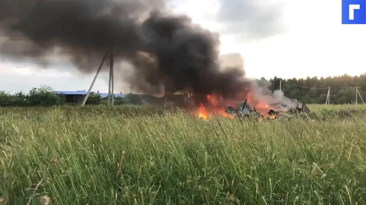 В Ленобласти разбился военный вертолет